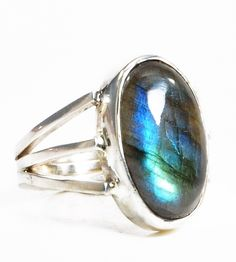 Labradorite handcrafted sterling silver ring