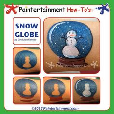 Snow Globe step by step by Gretchen Fleener...click for more details and product links