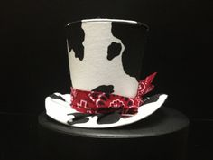 Cowboy Cowgirl or Cow costume Mini Top Hat  by daisyleedesign, $25.95