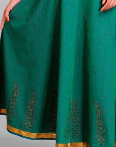 Fabindia.com   Cotton Mangalgiri Khari Sequin Trim Ghera Long Skirt