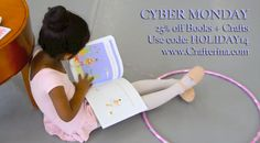 "One Day Only Sale for #CyberMonday! Use code: HOLIDAY14 for 25% off books + crafts! www.Crafterina.com #ShopSmall #MadeintheUSA #Coupon  ""If you're gift hunting for the tiny dancer in your life, consider the Crafterina series."" -METRO New York Editor"
