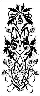 Panel No 2 stencil from The Stencil Library OTTOMAN range. Buy stencils online. Stencil code OTT48.