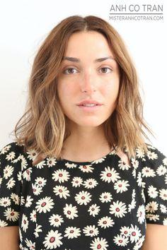 Model Rebecca Schwartz at Ramirez Tran Salon in Beverly Hills, Ca. Cut/Style: Anh Co Tran. #model #hair #cut #besthairinla #besthairinnyc #brunette #beauty #beautiful #short