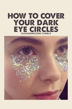 We know sleep during your period can be hit or miss. Try this easy DIY tutorial to cover dark circles. Just takes glitter, dark circles and a dream. Dark Eye Circles, Covering Dark Circles, Pink Lady, Concealer, Dark Eyes, Thats The Way, Look At You, Beauty Box, Just For Laughs