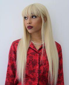 Shop Eurasian Bundles NOW! Long Blonde Wig, Blonde Hair, Hairstyles With Bangs, Straight Hairstyles, All Virgin Hair, Hair Unit, Natural Straight Hair, Mongolian Hair, 100 Human Hair Wigs