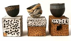 black and white dot ceramics judit varga