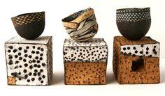 black and white dot ceramics judit varga