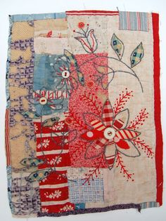 Mandy Pattullo textile collage... This would be great as a ...