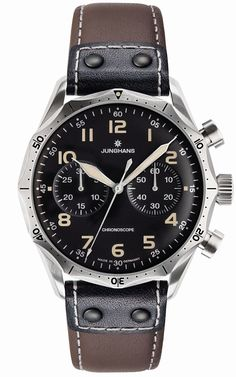 Junghans Meister Pilot Chronscope Watch Brown Dial Numerals by…