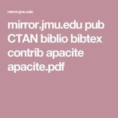 mirror.jmu.edu pub CTAN biblio bibtex contrib apacite apacite.pdf