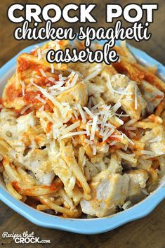 Low Calorie Recipes Crockpot, Crockpot Recipes For Two, Crockpot Dishes, Crock Pot Cooking, Chicken Recipes, Cooking Recipes, Crockpot Meals, Healthy Meals, Chicken Spaghetti Casserole