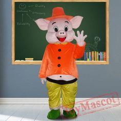 Happy Pig Mascot Costumes for Adult Pig Costumes, Mascot Costumes, Adult Costumes, Happy Pig, Adult Children, Dinosaur Stuffed Animal, Fun, Animals, Animales