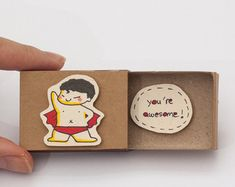 Cute Friendship Card Matchbox/ Gift box/ Good Friends by 3XUdesign
