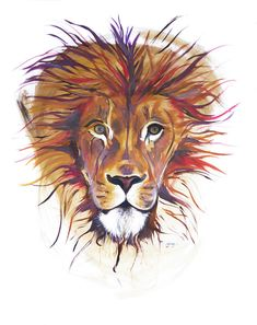 The Lion Within: Strength, courage and wisdom. Be fiercely loyal and ambitious. Oil Painting On Canvas, Original Artwork, Amy, Lion, Strength, Wisdom, The Originals, Portrait, Drawings