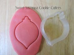 Christmas Bauble No.2 Cookie Cutter by SweetSavannaCookies on Etsy