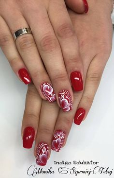 Gel Brush Red Hot Peppers according to Monika Szurmiej-Tutaj Indigo Educator <3  Follow exciting nails designs, and pursue new styles! #nailart #nails #red #hot #peppers