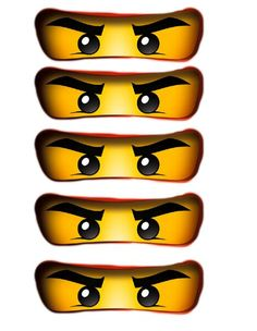 Ninjago Party Free Printables- Print these out for balloons or favor boxes.