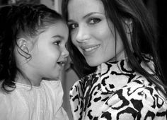 Georgina Chapman with her daughter India.