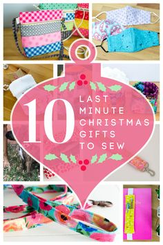 10 Last Minute Christmas Gifts to Sew — SewCanShe | Free Sewing Patterns and Tutorials Diy Sewing Projects, Sewing Hacks, Sewing Tutorials, Sewing Ideas, Sewing Patterns Free, Quilt Patterns, Free Pattern, Christmas Sewing, Christmas Crafts