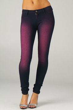 Cello Faded Skinny Jean in Purple - Beyond the Rack