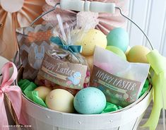 One of the delights of Easter is creating surprise filled baskets for the little ones. Here is a set of editable labels and round stickers to add to your packages and bags of Easter candy, treats a… Pallet Wine Rack Diy, Rustic Wine Racks, Easter Stickers, Round Stickers, Homemade Wine Rack, Basket Labels, Little Bunny Foo Foo, Custom Printed Labels, Kids Labels