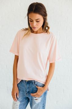 Perfect Tee in Blush