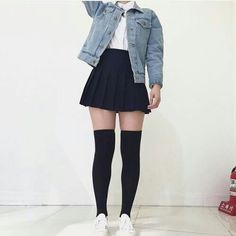 Find images and videos about jeans, shorts and shirt on We Heart It - the app to get lost in what you love. Grunge Outfits, Edgy Outfits, Teen Fashion Outfits, Korean Outfits, Cute Casual Outfits, Skirt Outfits, Cute Fashion, Asian Fashion, Womens Fashion