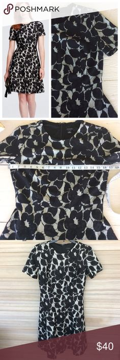 """Ann Taylor Lace Dress Feminine, bonded Lace dress with short sleeves and flared skirt. Zippers in back and is 36"""" long.   >Condition: Very good   🚫 No Trades ✅ Discounted Bundles ✅ Reasonable Offers Ann Taylor Dresses Midi"""