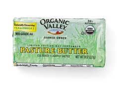100 Cleanest Packaged Food Awards 2014: Organic: Organic Valley Pasture Butter http://www.prevention.com/food/healthy-eating-tips/?s=53