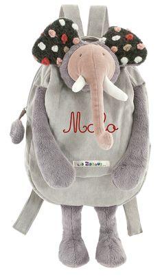 Sac à dos éléphant les zazous brodé au prénom