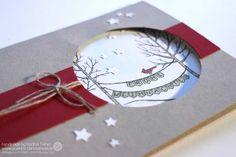 Weihnachtskarte für Anfänger Stampin' Up!, Stempelset Weiße Weihnacht