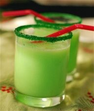 """Fun for the Kids on Christmas Eve - Grinch Punch with Sprite and Lime sherbet and Green Sprinkles/sugar rim."""" data-componentType=""""MODAL_PIN"""