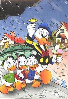 Huey, Louie, Dewey and Uncle Donald