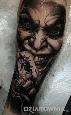 The Joker Tattoo. Forarm Tattoos, Chicano Tattoos, Irezumi Tattoos, Skull Tattoos, Leg Tattoos, Body Art Tattoos, Sleeve Tattoos, Joker Tattoos, Batman Tattoo