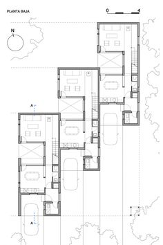 architecture - Gallery of CLF Houses / Estudio BaBO - 16 Architecture Plan, Residential Architecture, Social Housing Architecture, The Plan, How To Plan, Villa Plan, Townhouse Designs, Narrow House, Apartment Plans