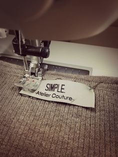 Working in progress.. SIMPLE. Atelier Couture