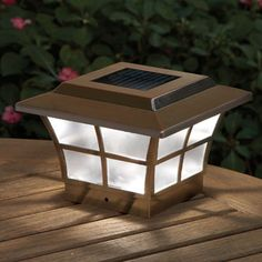 Fence Post Lights On Pinterest Solar Cap D Agde And