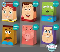 Printable Toy Story paper bags full KIT by FIESTASCANCHERAS on Etsy https://www.etsy.com/listing/217284885/printable-toy-story-paper-bags-full-kit