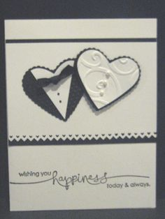 Wishing you Happiness Today and Always - Wedding - Handmade Greeting Card