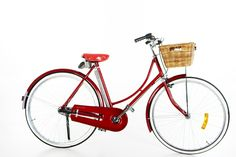 I have an image of riding one of these ladies bicycle wearing a flowing skirt and flowers in the basket