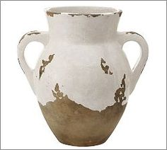Tuscan Medium Double Handled Urn, White