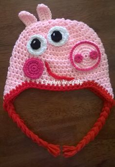 Peppa Pig crochet hat