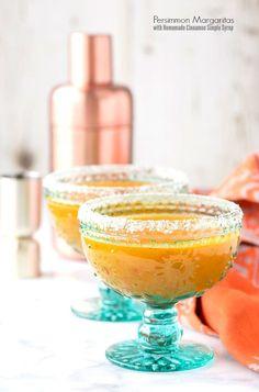 Persimmon Margaritas with Cinnamon Simple Syrup - BoulderLocavore.com
