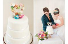 Love the sweet tweets cake topper DoveBarnWedding