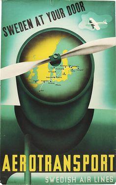 Affisch av Anders Beckman 194? - Sweden at your door