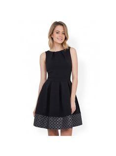 Closet - Černé šaty se stříbrným vyšitým pruhem - 1