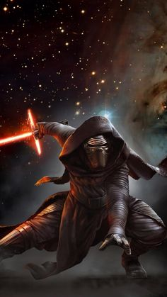 Kylo with light saber