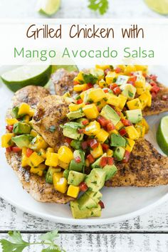 Healthy Grilled Chicken with Mango Salsa Recipe | Healthy Fitness Meals