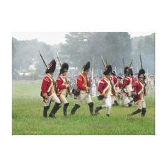 American Revolution, British Soldiers Stretched Canvas Print