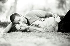 I think this would make a cute engagement pic minus the baby belly :)